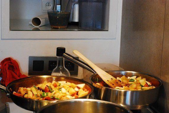 フリッツと根セロリが香ばしいベルギーの家庭料理をいただきました!