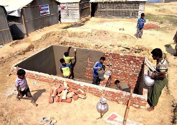 ミャンマー避難民:渇水期に新しい井戸が大活躍!
