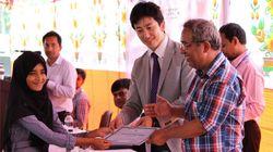 当校を襲った哀しい出来事から立ち上がる。バングラデシュでは珍しい「集団健康診断」を決行!