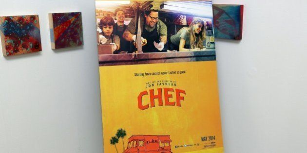 MIAMI, FL - APRIL 25: General view of the 'Chef' the movie private screening at O Cinema on April 25,...