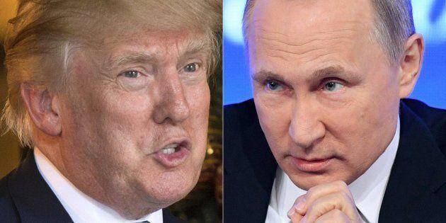トランプ米大統領(左)とロシアのプーチン大統領。