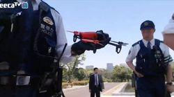 ドローン少年、国会付近で飛行試み警察に聴取される瞬間を中継