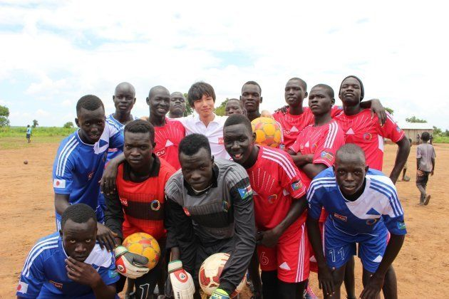 ウガンダ北部では南スーダン難民によるサッカーチーム設立支援プロジェクトに携わっていた
