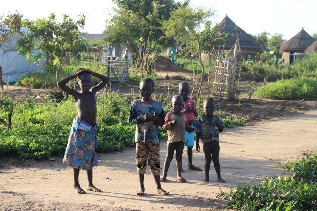 南スーダン難民の子どもたち