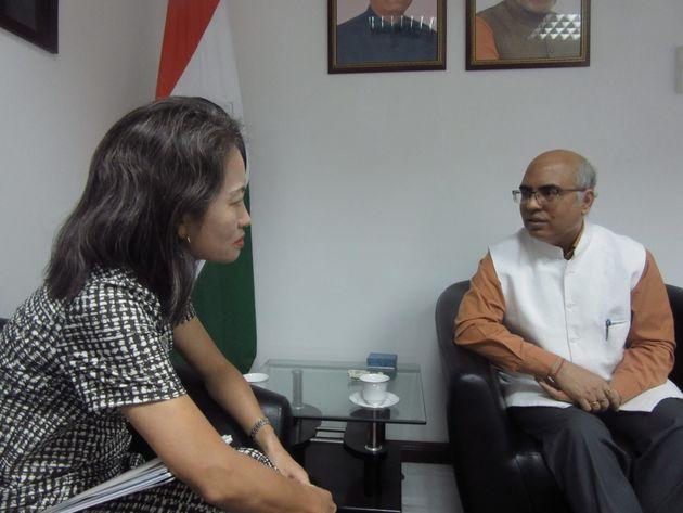 インド大使とモルディブ情勢について意見交換