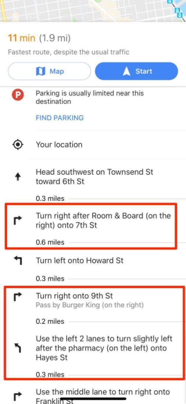 Googleマップのナビが、ランドマーク・観光スポットを使って指示を出すようになった