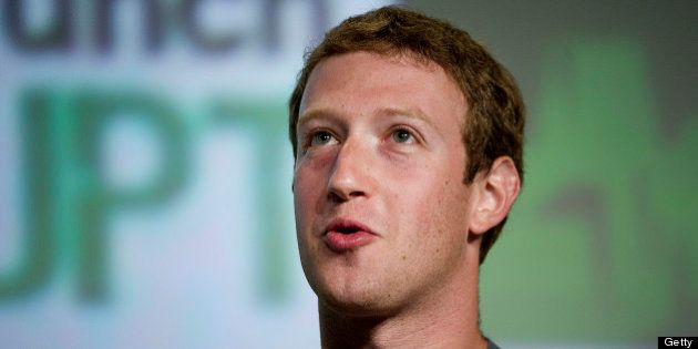 Mark Zuckerberg, chief executive officer and founder of Facebook Inc., speaks during TechCrunch Disrupt...