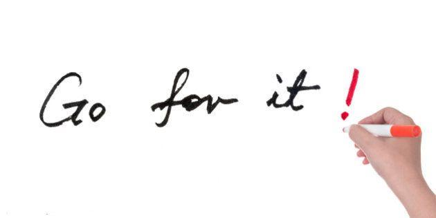 go for it words written