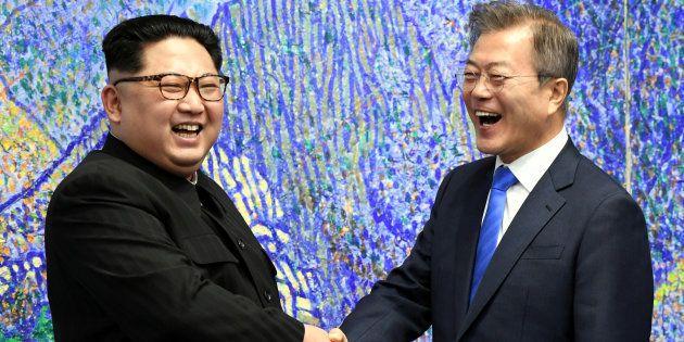 韓国の文在寅(ムンジェイン)大統領と北朝鮮の金正恩(キムジョンウン)朝鮮労働党委員長