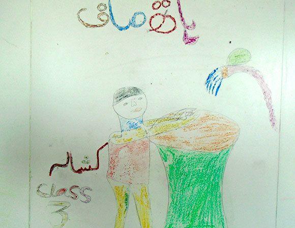 パキスタン:初めての図工で描いた絵は?