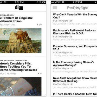 iOS版Digg Readerアプリケーション、App