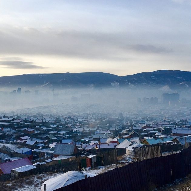 大気汚染が問題になっているモンゴル・ウランバートル 撮影・竹田有里