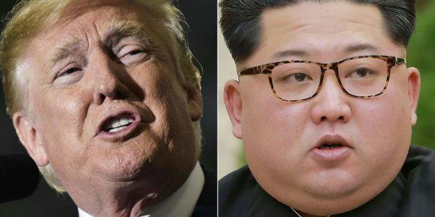 トランプ米大統領(左)と北朝鮮の金正恩朝鮮労働党委員長。