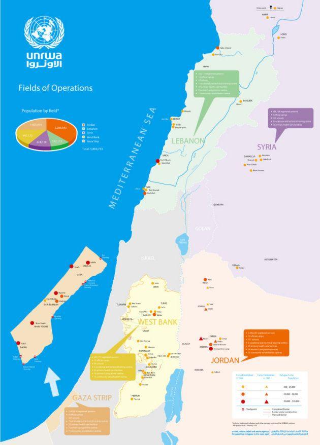 UNRWAの活動地域