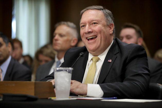 マイク・ポンペオ国務長官。2018年5月24日、アメリカ・ワシントンDC。