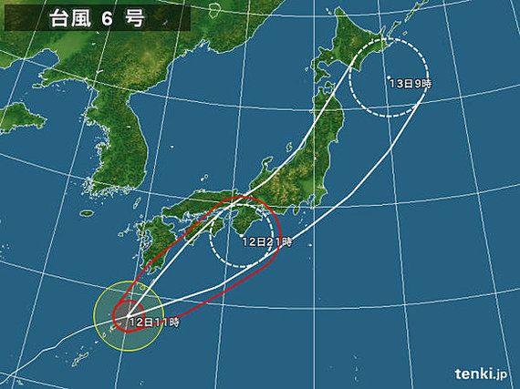 【台風情報】台風6号、温帯低気圧に変わりつつ上陸か 通過後は7月下旬並みの暑さに(望月圭子)