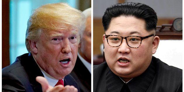 トランプ大統領(左)と金正恩・朝鮮労働党委員長