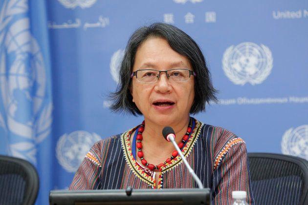 先住民の権利に関する国連の独立専門家ビクトリア・タウリ=コープス氏(Victoria Tauli-Corpuz)UN Photo/JC