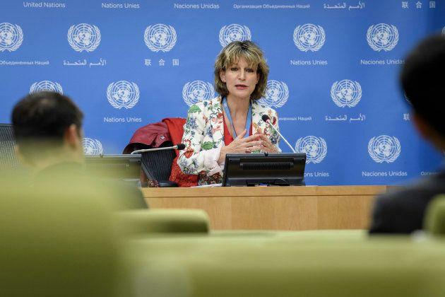 国連の独立専門家として、司法手段を経ていない処刑の問題に取り組んでいるアニエス・カラマール氏(Agnes Callamard) UN Photo/Manuel