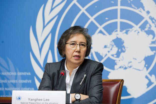 ミャンマー担当特別報告者 李亮喜(イ・ヤンヒYanghee Lee)氏 UN Photo/Violaine