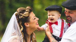 結婚式は、子供といっしょ。愛にあふれる27枚の写真