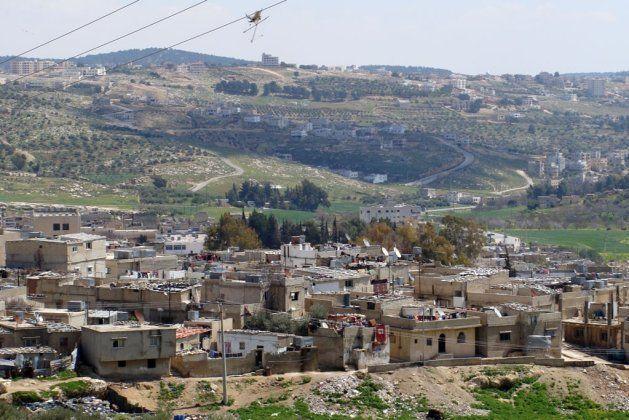 ヨルダンのスーフ難民キャンプ。近くにはローマ遺跡のジェラシュがある