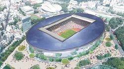地味だが都市的な背景として抑えた表現に収まっている新国立競技場