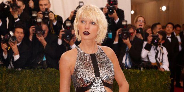 Singer-Songwriter Taylor Swift arrives at the Metropolitan Museum of Art Costume Institute Gala (Met...