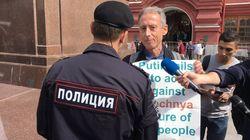 ワールドカップ開幕直前のモスクワで、イギリスのゲイ活動家が一時拘束