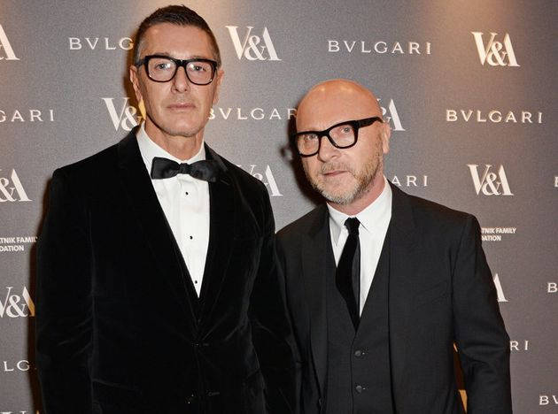 LONDON, ENGLAND - APRIL 01: Stefano Gabbana (L) and Domenico Dolce attend a private dinner celebrating...