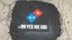 ドミノ・ピザ、道路の補修工事に乗り出す。「ピザの安全のため…」取り組みに反響