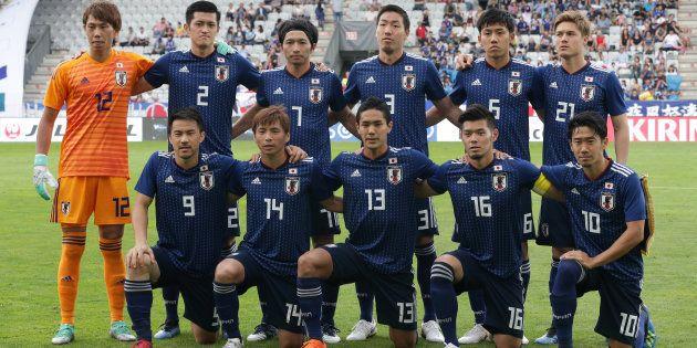 ワールドカップ本大会が開幕する直前、親善試合としてパラグアイと対戦した日本代表=6月12日、オーストリア