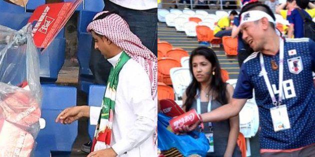 """コロンビアが負けてもゴミ拾いする姿に感動広がる。""""日本発""""サポーターの掃除がワールドカップを変えた"""