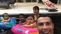 クリスティアーノ・ロナウド、パパの顔もカッコよすぎる。4人の子どもがうらやましい