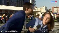 ワールドカップ取材中の女性記者にセクハラ行為⇒「二度と女性にそんなことするな」と一喝