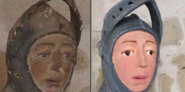 修復前(左)と修復後(右)