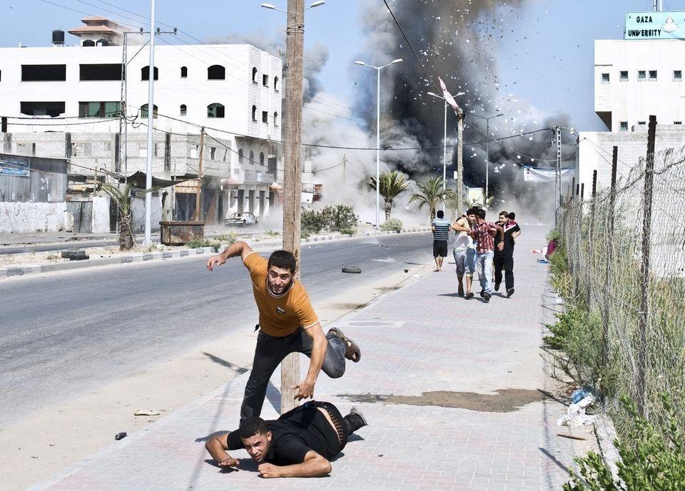 ガザは、停戦合意の直前まで過酷な戦場だった(画像)