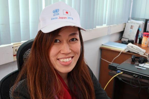 吉田美紀UNRWA渉外・プロジェクト支援担当官。「Gaza Japan
