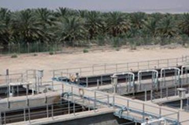 下水施設と周辺の広がる緑地