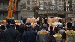 大阪・ミナミの繁華街で不発弾を処理