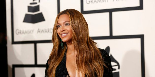 Singer Beyonce arrives at the 57th annual Grammy Awards in Los Angeles, California February 8, 2015....
