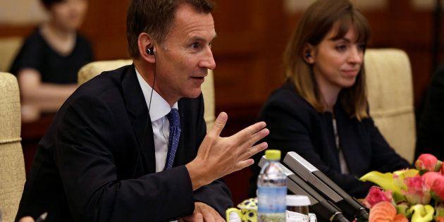 中国訪問したイギリス外相・ジェレミー・ハント氏