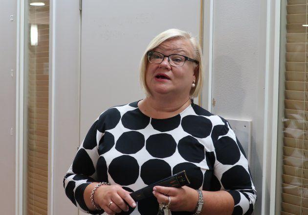 施設を案内してくれた、「ネウボラおばさん」の統括、ヘレナ・ミークライネンさん