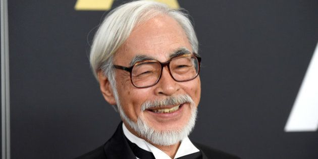 HOLLYWOOD, CA - NOVEMBER 08: Honoree Hayao Miyazaki attends the Academy Of Motion Picture Arts And Sciences'...