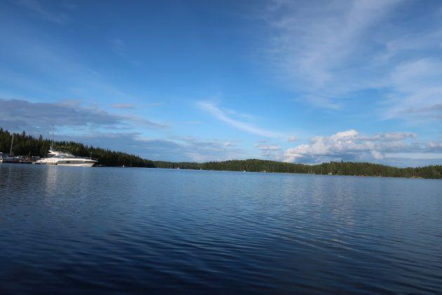 サイマー湖にて