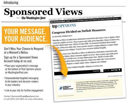 ワシントンポストの大胆な試み、広告料を払うと企業も編集意見欄への投稿が可能に