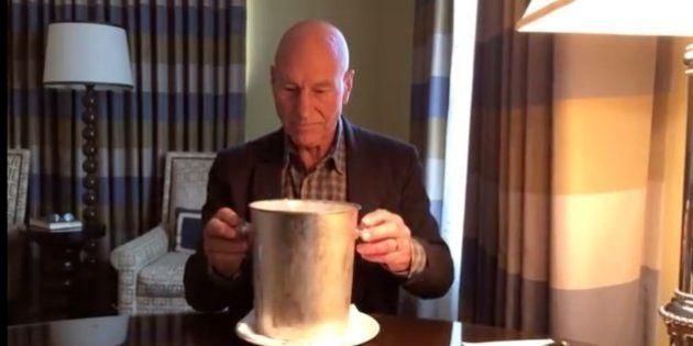 「氷水はこう使うのだ」ピカード艦長の名優が無言のメッセージ(動画)