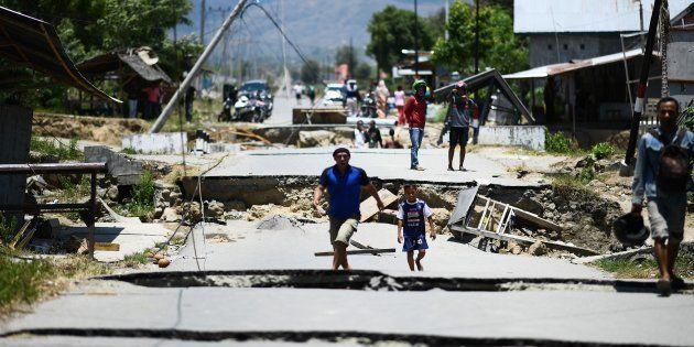 (写真)インドネシア地震 2018年9月28日