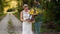 天国の新郎は、ウェディング写真で新婦と一つになった「僕はいつもそばにいる」