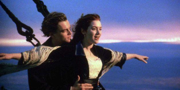 1997年の映画『タイタニック』の一場面